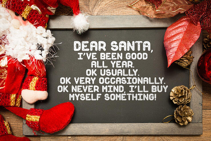 Blackboard with a Christmas Funny text in a conceptual image tiny